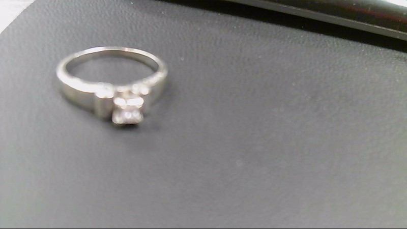 Lady's Diamond Solitaire Ring .40 CT. 10K White Gold 4.1g