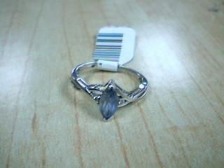 Synthetic Tanzanite Lady's Stone & Diamond Ring 2 Diamonds .02 Carat T.W.