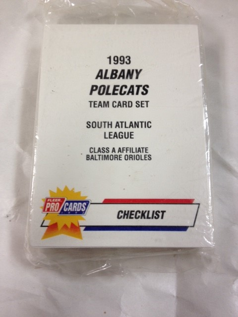 1993 ALBANY POLECATS TEAM CARD SET