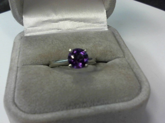 Amethyst Lady's Platinum-Stone Ring 950 Platinum 5.2g