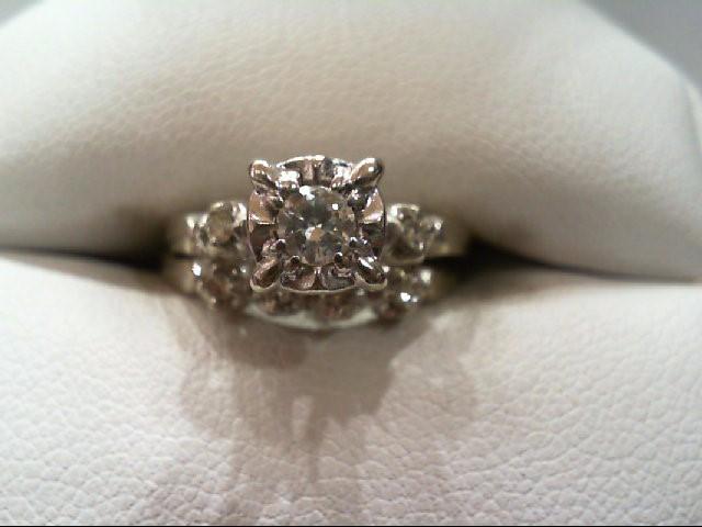 Lady's Diamond Wedding Set 11 Diamonds .35 Carat T.W. 14K White Gold 3.9g