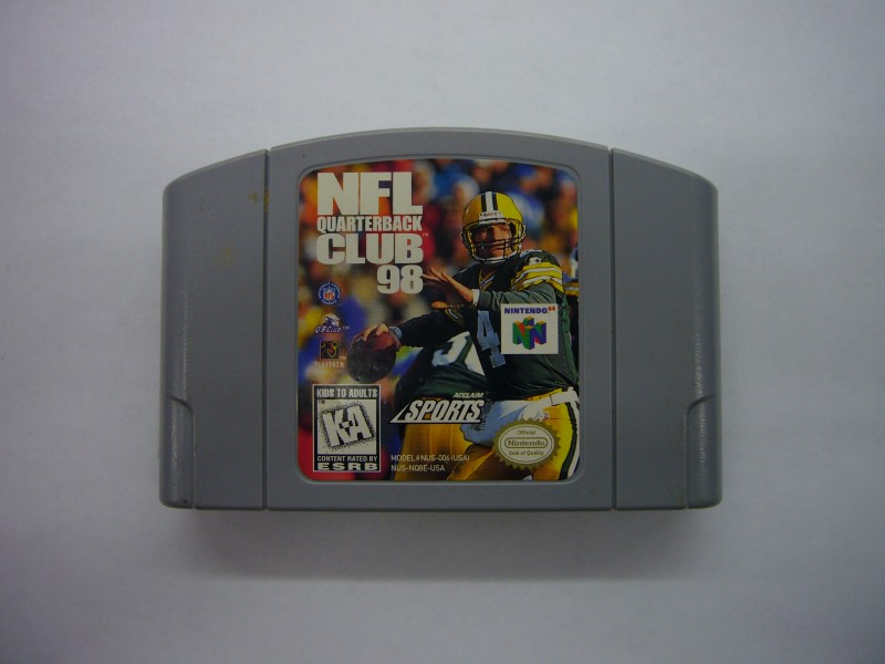 NINTENDO 64 Game NFL QUARTERBACK CLUB 98 *CARTRIDGE ONLY*