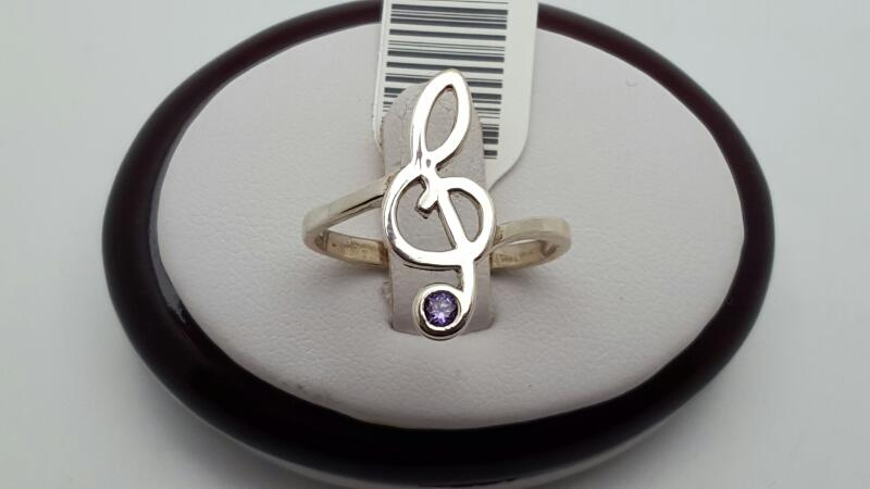 Lady's Silver Ring 925 Silver 2.4g Size:8.5