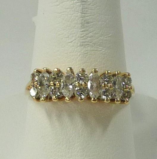 Lady's Diamond Fashion Ring 14 Diamonds 1.30 Carat T.W. 14K Yellow Gold 2.24dwt
