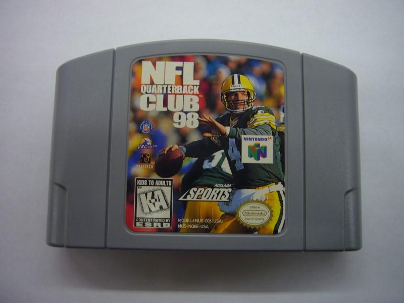 NINTENDO 64 Game NFL QUARTERBACK CLUB 98 *CARTRIDGE ONLY*