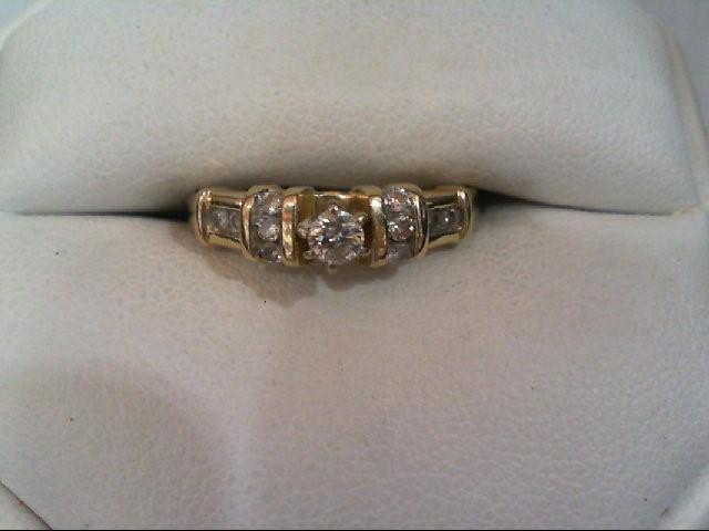 Lady's Diamond Engagement Ring 11 Diamonds .35 Carat T.W. 14K Yellow Gold 2.6g