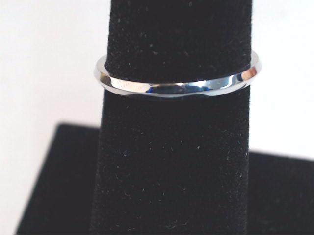 Lady's Gold Wedding Band 18K White Gold 1.7g Size:5