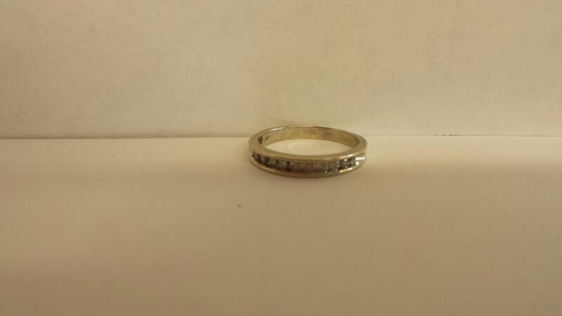 Lady's Diamond Wedding Band 10 Diamonds .30 Carat T.W. 10K White Gold 1.5dwt