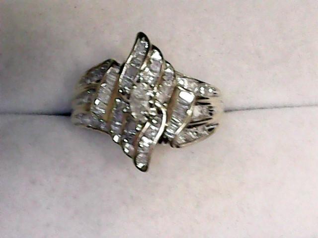 Lady's Diamond Fashion Ring 51 Diamonds 1.25 Carat T.W. 10K Yellow Gold 3.3dwt