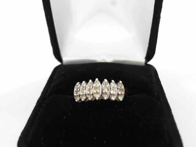 Lady's Diamond Cluster Ring 16 Diamonds .48 Carat T.W. 10K Yellow Gold 1.6dwt