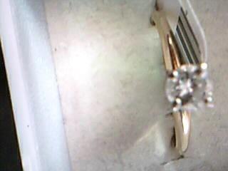 Lady's Diamond Wedding Set 27 Diamonds .77 Carat T.W. 14K Yellow Gold 7.9g