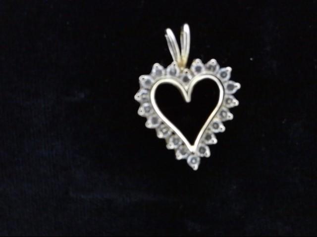 Gold-Multi-Diamond Pendant 20 Diamonds .80 Carat T.W. 14K Yellow Gold 3.3g