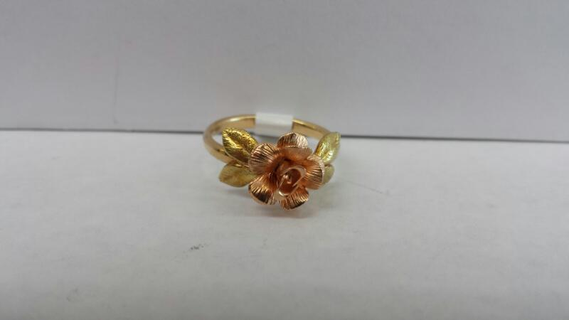 14k Yellow Gold Ring with a Rose