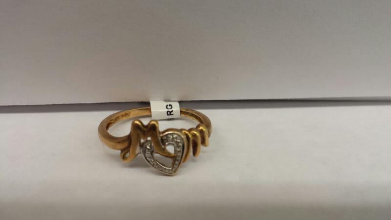 "10k Yellow Gold Ring ""Mom"""