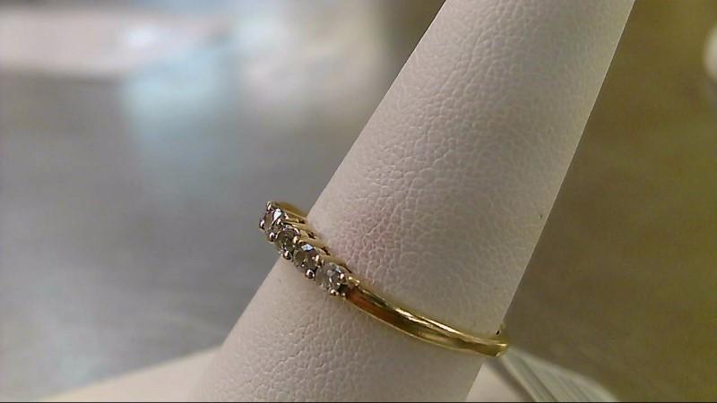 Lady's Diamond Fashion Ring 7 Diamonds .35 Carat T.W. 14K Yellow Gold 2.2g