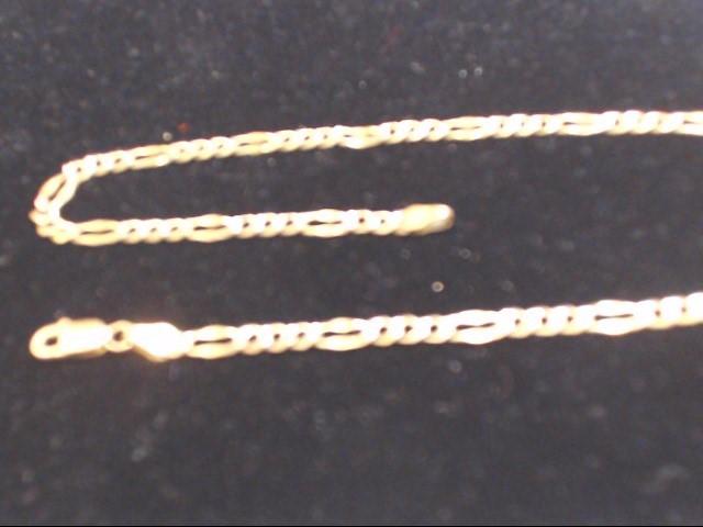 """19"""" Gold Figaro Chain 14K Yellow Gold 7.2g"""