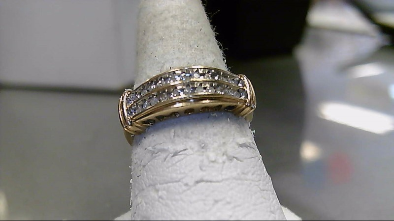 Lady's Diamond Fashion Ring 22 Diamonds .66 Carat T.W. 10K Yellow Gold 3.1g
