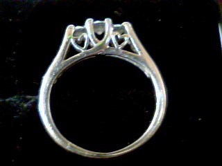 Lady's Diamond Cluster Ring 9 Diamonds .74 Carat T.W. 14K White Gold 2.5g