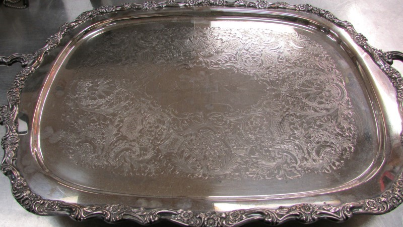 COUNTESS INTERNATIONAL SILVER COMPANY Flatware 6291 SILVERPLATE SERVING TRAY