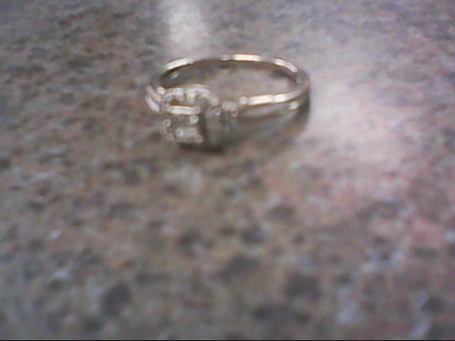 Lady's Diamond Fashion Ring 24 Diamonds .24 Carat T.W. 14K White Gold 1.8g
