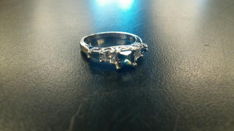 Mystic Fire Topaz Lady's Stone & Diamond Ring 2 Diamonds .64 Carat T.W.
