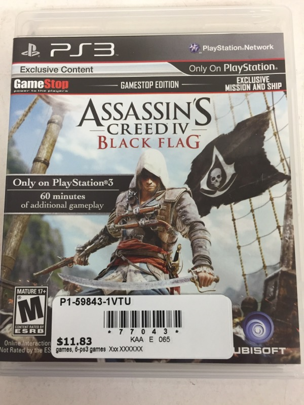 Assassin's Creed IV: Black Flag (Sony PlayStation 3, 2013)