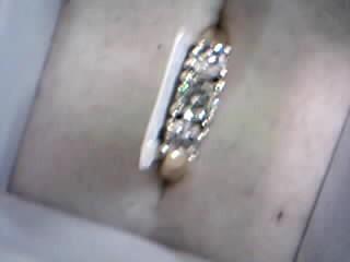 Lady's Diamond Wedding Set 14 Diamonds .86 Carat T.W. 14K Yellow Gold 5.08g