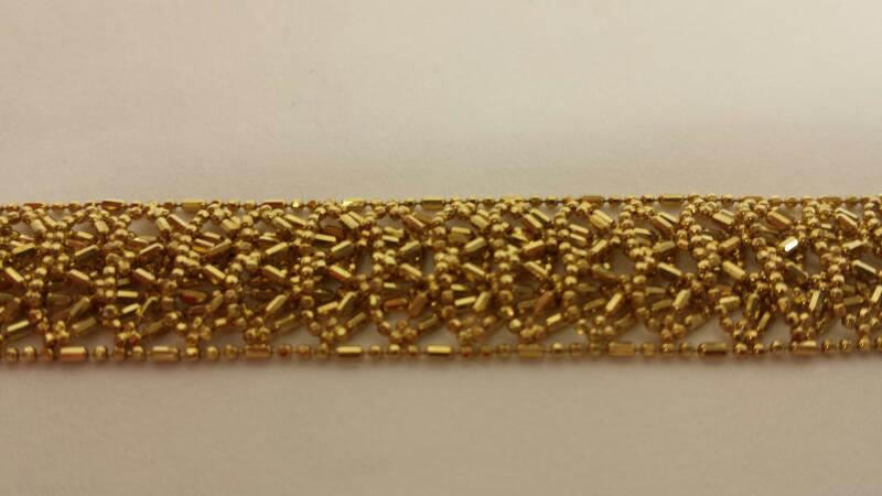 10k Yellow Gold Bracelet 7""