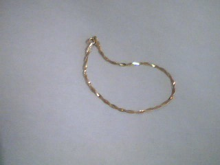 Gold Serpentine Bracelet 14K Yellow Gold 1g