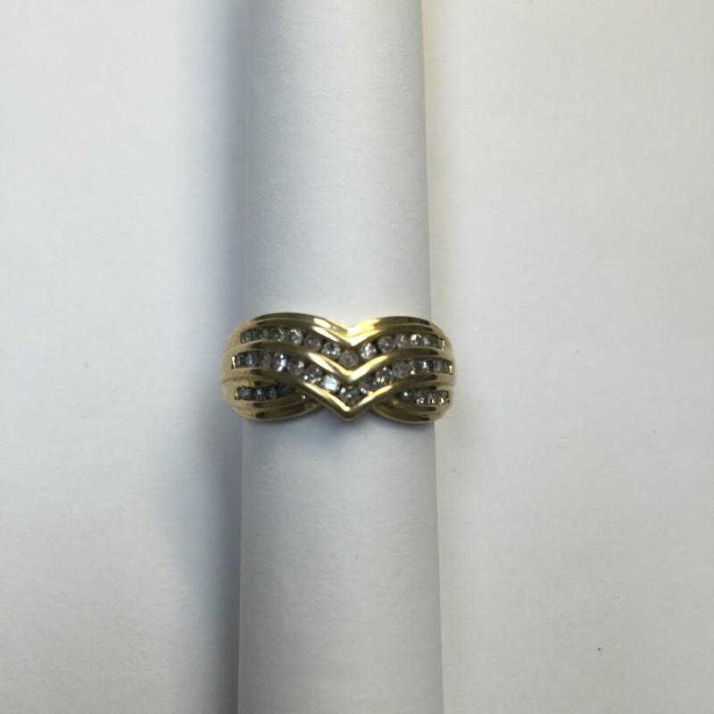 Lady's Diamond Fashion Ring 36 Diamonds .36 Carat T.W. 10K Yellow Gold 2.7dwt