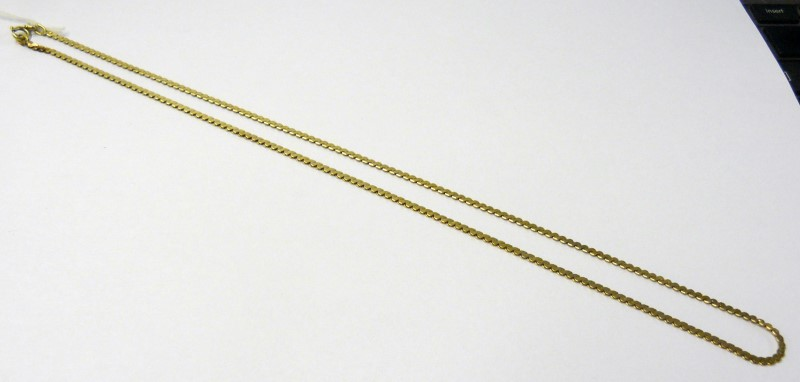 "18"" Gold Serpentine Chain 14K Yellow Gold 4.71dwt"