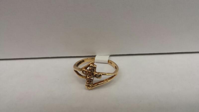 "14k Yellow Gold Ring ""Cross"""