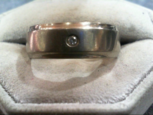 Gent's Diamond Ring .05 CT. Silver Titanium 4.5g