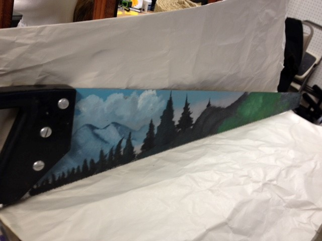 HANDPAINTED SAW BY ROSCO TROWLER