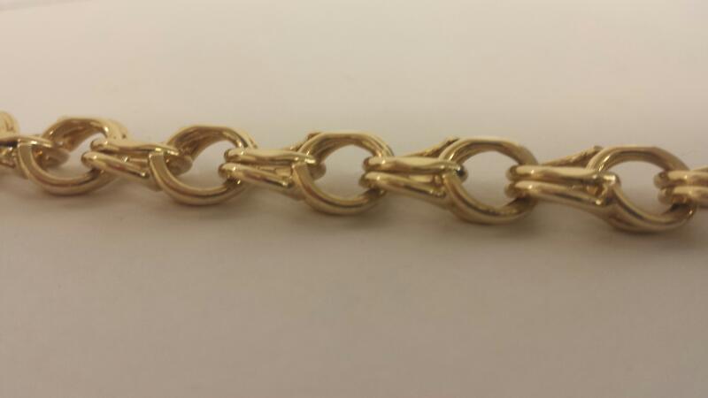 LDS 14KT Gold Fashion Bracelet CURB LINK 14K Yellow Gold 21.6dwt