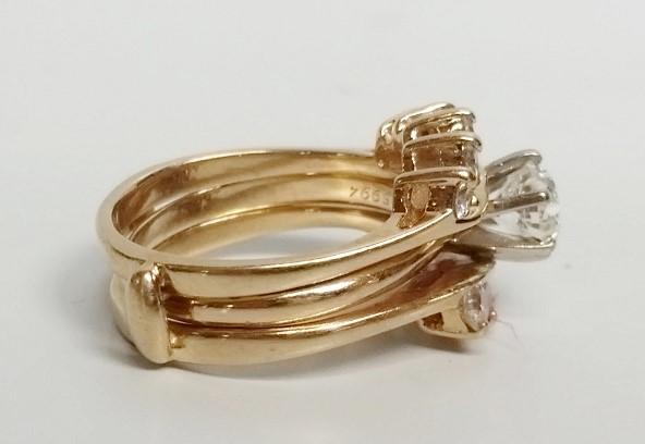 1CT TW Jared 14K Yellow Gold Diamond Engagement Ring w/ Wrap