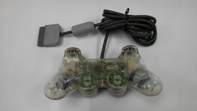 Sony Original OEM Playstation 1 Wired Controller (Clear, See Through)