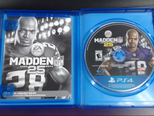 SONY MADDEN NFL 25 GAME FOR PS-4, GOOD CONDITION