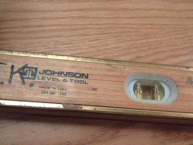 JOHNSON BAMBOO LEVEL & TOOL Level/Plumb Tool 48IN