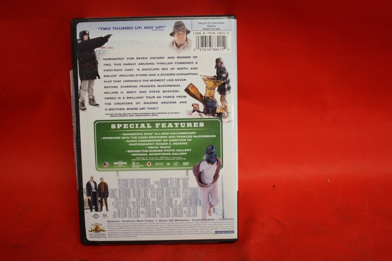 Fargo - DVD - Frances McDormand Steve Buscemi William H. Macy