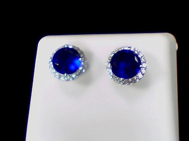 White Stone Silver-Stone Earrings 925 Silver 2g