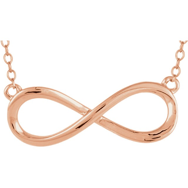 "18"" Gold Fashion Chain 14K Rose Gold 0.9g"