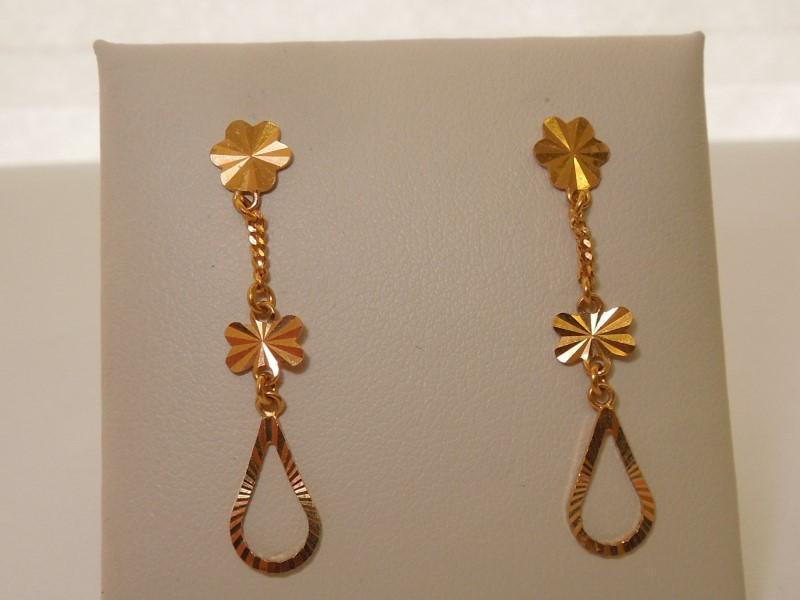 Gold Earrings 18K Yellow Gold 2.3g