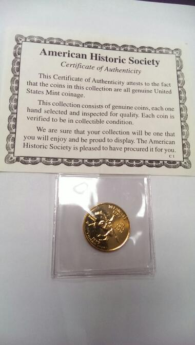 1999 DELAWARE GOLD PLATED QUARTER