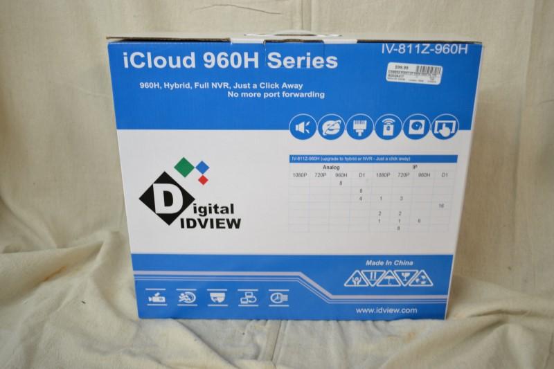 DIGITAL VIDVIEW ICLOUD 960H SERIES DVR. IV-811Z-960H.