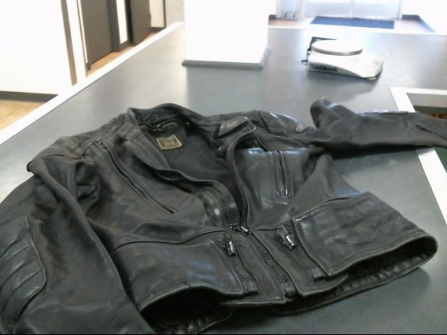 HEIN GERICKE Coat/Jacket BLACK LEATHER JACKET