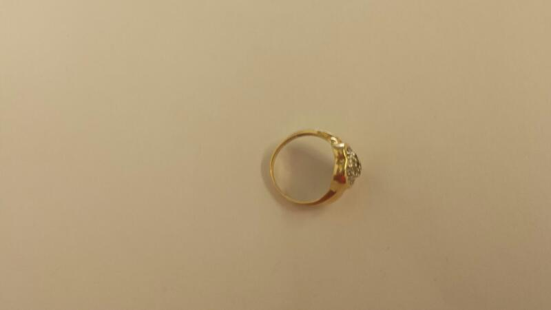 Lady's Diamond Cluster Ring 26 Diamonds .26 Carat T.W. 10K Yellow Gold 2dwt