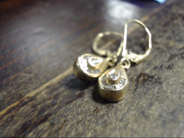 Gold-Diamond Earrings 16 Diamonds .18 Carat T.W. 14K Yellow Gold 2.1g