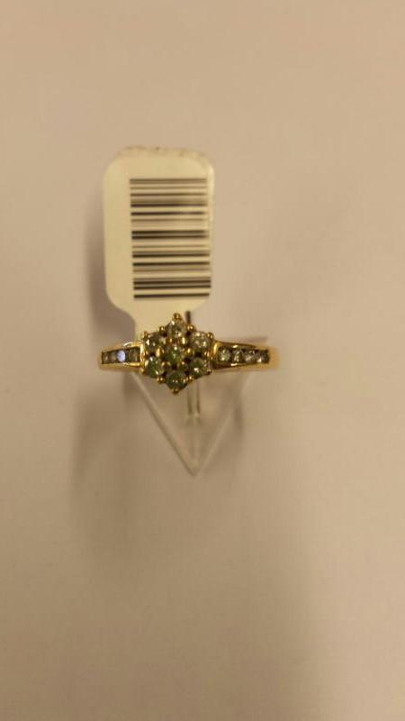Lady's Diamond Fashion Ring 15 Diamonds .126 Carat T.W. 14K Yellow Gold 1.07dwt