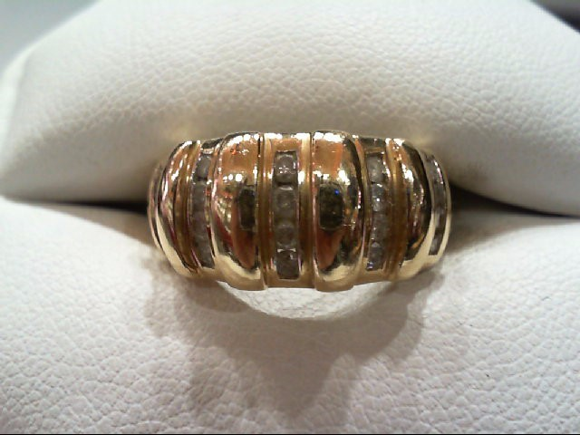 Lady's Diamond Fashion Ring 20 Diamonds .52 Carat T.W. 10K Yellow Gold 4.7g